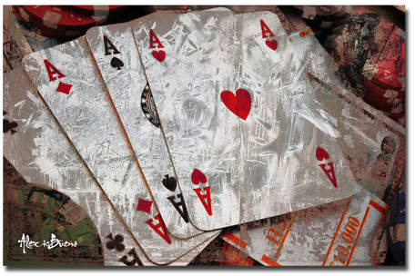 Ready2hangart Poker II' Graphic Art on Canvas
