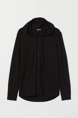 H&M Hooded Shirt - Black