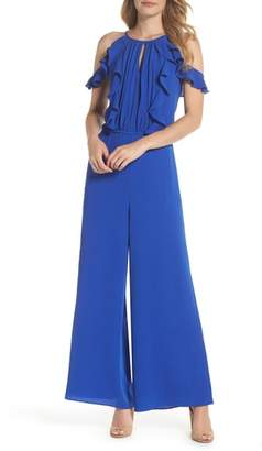 Julia Jordan Cold Shoulder Jumpsuit