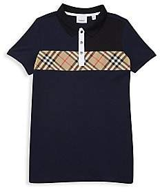 Burberry Women's Little Boy's & Boy's Jeff Vintage Check Insert Polo
