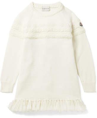 Moncler Ages 4 - 6 Metallic Tasseled Wool-blend Dress