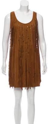 Haute Hippie Suede Fringe Dress