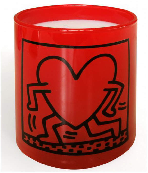 Thompson Ferrier Keith Haring Red Running Heart Candle
