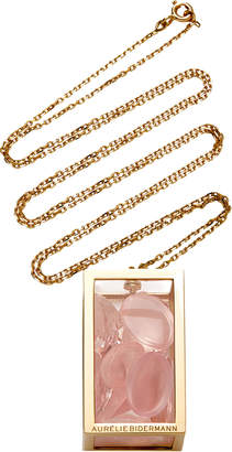 Aurelie Bidermann Amazone Box With Pink Quartz And Morganite