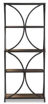 Gracie Oaks Pietrzak Metal Etagere Bookcase