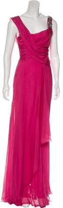 Matthew Williamson Silk Embellished Evening Dress