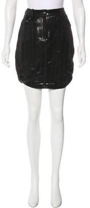 Christian Dior Metallic Wool Mini Skirt
