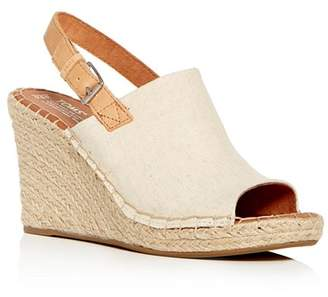 Toms Women's Monica Hemp Espadrille Platform Wedge Sandals