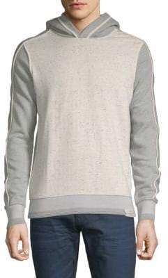 Scotch & Soda Heathered Cotton Hooded Sweatshirt