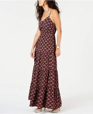 Michael Kors Printed A-Line Maxi Dress