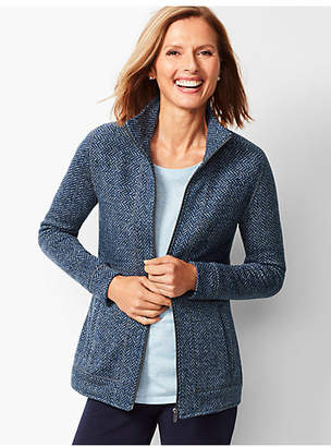 Talbots Textured Herringbone Jacket