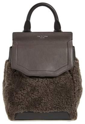 Rag & Bone Small Pilot Leather & Genuine Shearling Backpack