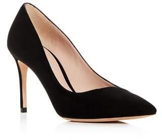 Giorgio Armani Women's Decolette Leather Pointed Toe Pumps