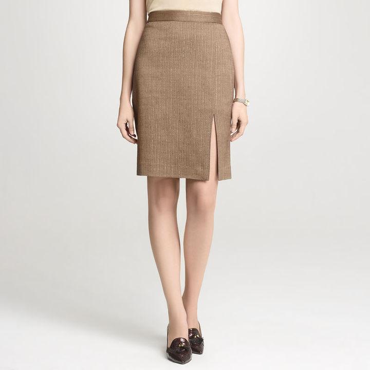 Anne Klein Shimmer Herringbone Skirt