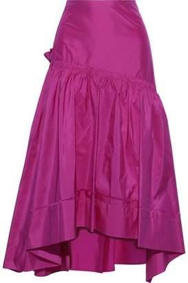 3.1 Phillip Lim Asymmetric Gathered Silk-taffeta Midi Skirt