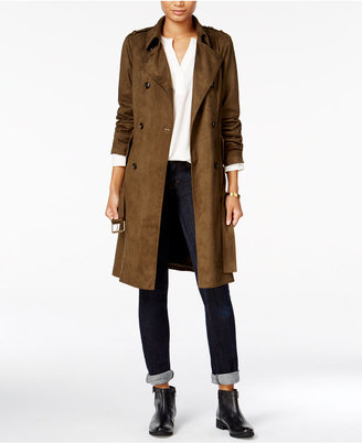 Maison Jules Faux-Suede Trench Coat, Only at Macy's $149.50 thestylecure.com