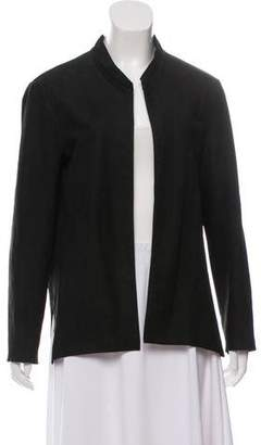 Theyskens' Theory Suede Open Front Jacket