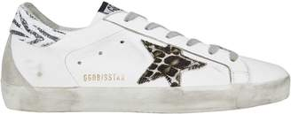 Golden Goose Superstar Animal Print Low-Top Sneakers