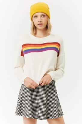 Forever 21 Gingham Skater Mini Skirt
