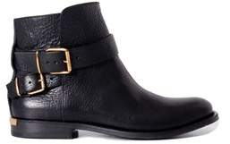 Burberry Women's Black Leather Ankle Boots.