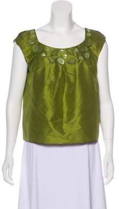 Magaschoni Sleeveless Embellished Top