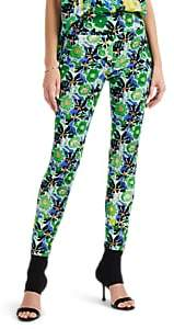 Women's Gardenia-Print Tech-Twill Skinny Trousers - Green