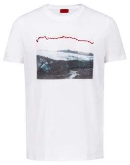 HUGO Boss Unisex T-shirt in cotton collection artwork L White