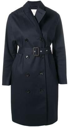 MACKINTOSH Navy Bonded Cotton Trench Coat