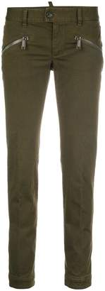 DSQUARED2 zip-detail skinny trousers