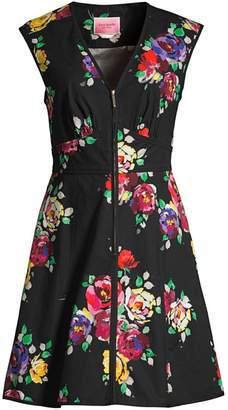 Kate Spade Rare Roses Sleeveless Poplin Dress