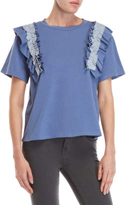N. After Market Stripe Ruffle Tee