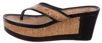 Prada Sport Platform Thong Sandals