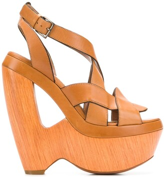 Alaia Pre-Owned 2000's cutout wedge sandals