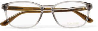 Tom Ford Two-Tone Square-Frame Acetate Optical Glasses