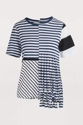 Loewe Asymmetrical striped T-shirt