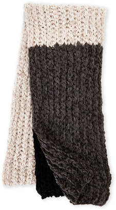 Collection 18 Color Block Chenille Knit Scarf