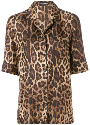 Dolce & Gabbana leopard print shirt