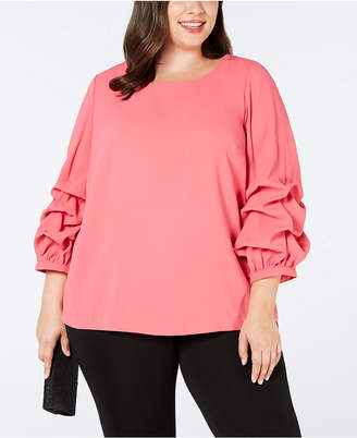 Alfani Plus Size Billow-Sleeve Blouse