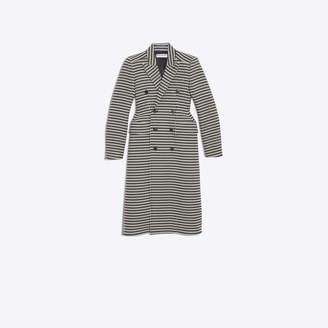 Balenciaga Hourglass iconic double breasted coat