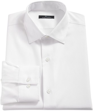 Marc Anthony Men's Textured Slim-Fit No-Iron Dress Shirt