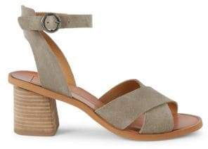 925d3b75a3f9 Dolce Vita Ramon Criss-Cross Suede Stacked Heel Sandals