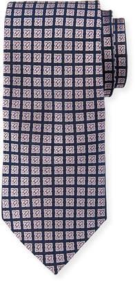 Neiman Marcus Boxed Flower Neat Silk Tie
