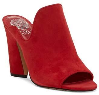 Vince Camuto Women's Gerrty Peep Toe High-Heel Leather Mules