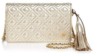 Tory Burch Fleming Flat Leather Wallet Bag
