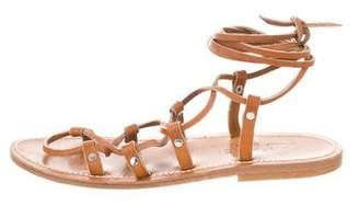 K Jacques St Tropez Leather Gladiator Sandals