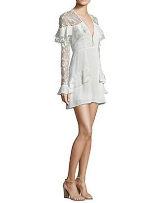 For Love & Lemons Women's Rosebud Embroidery Mini Dress