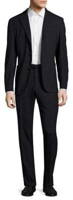 Boglioli Men's Hopsack Wool Suit - Navy - Size 54 (44)