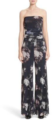 Women's Fuzzi Floral Print Tulle Strapless Jumpsuit $495 thestylecure.com