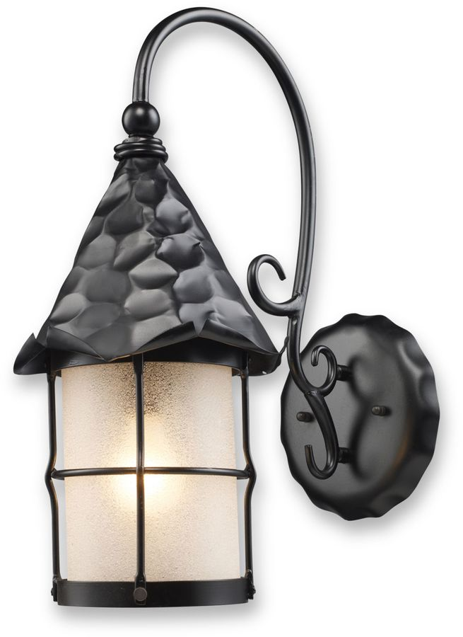 Bed Bath & Beyond Rustica Outdoor Sconce Light in Matte Black