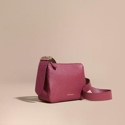 Burberry Buckle Detail Leather Crossbody Bag